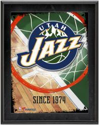 """Utah Jazz Team Logo Sublimated 10.5"""" x 13"""" Plaque"""