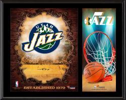 """Utah Jazz Sublimated 12"""" x 15"""" Team Logo Plaque"""