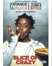 Uzo Aduba Orange Is The New Black Signed 11X14 Photo BAS #B84325