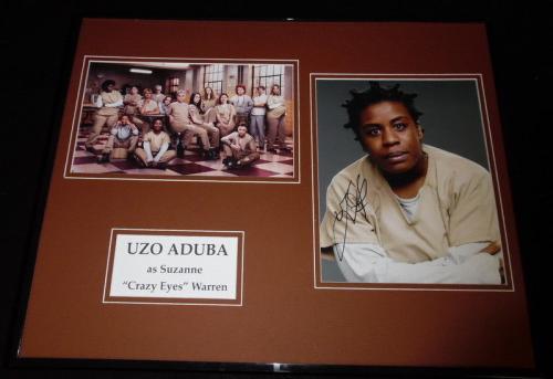 Uzo Aduba Signed Framed 16x20 Photo Display AW Orange is the New Black
