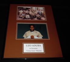 Uzo Aduba Signed Framed 16x20 Photo Set AW Orange is the New Black Crazy Eyes