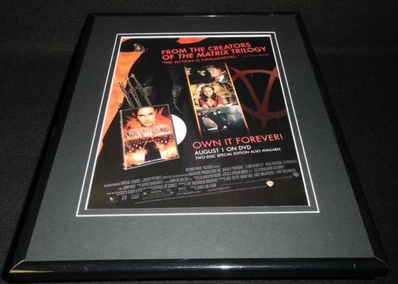 V For Vendetta 2006 Framed 11x14 ORIGINAL Vintage Advertisement Natalie Portman