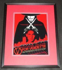 V For Vendetta Framed 11x14 Photo Poster Natalie Portman Hugo Weaving