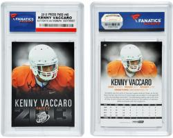 Kenny Vaccaro Texas Longhorns Autographed 2013 Press Pass #45 Card