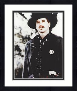 """VAL KILMER as DOC HOLIDAY in 1993 Movie """"TOMBSTONE"""" Signed 8x10 Color Photo"""