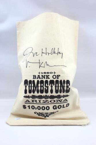 Val Kilmer Authentic Autograph Coin Sack Tombstone Money Bag JSA Doc Holliday