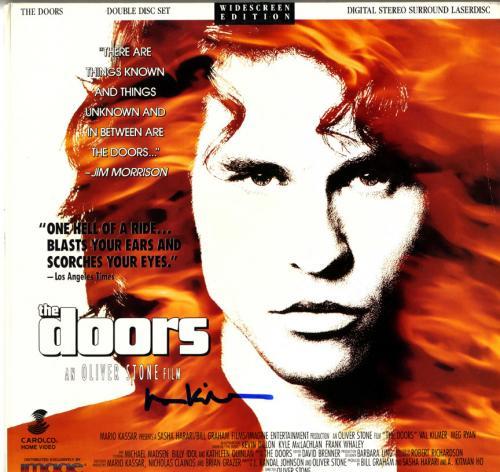 Val Kilmer Autographed The Doors Movie Laserdisc Cover AFTAL UACC RD COA