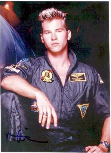 Val Kilmer autographed Top Gun 8x10 photo - ICEMAN