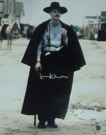 Val Kilmer Autographed/signed Tombstone 16x20 Photo 20519 Bas