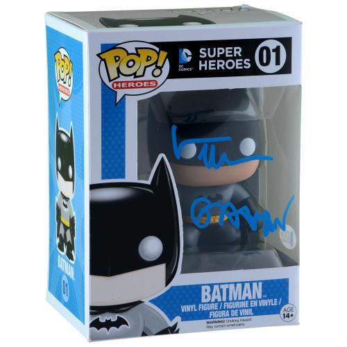 Val Kilmer Batman Autographed #01 Funko Pop! With Batman Inscription - BAS