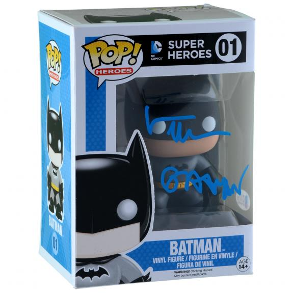 Val Kilmer Batman Autographed #01 Funko Pop! With Batman Inscription - BAS