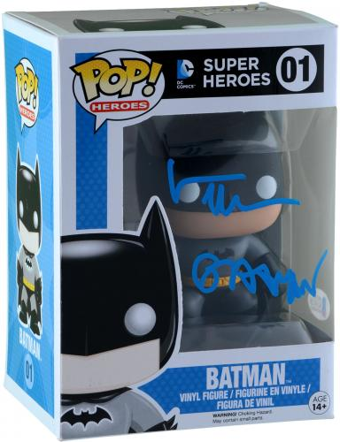Val Kilmer Batman Autographed #144 Funko Pop! With Batman Inscription - BAS