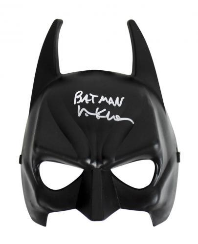"Val Kilmer Batman Forever ""Batman"" Signed Batman Mask Autographed BAS"