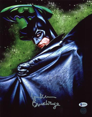 "Val Kilmer Batman Forever ""Bruce Wayne"" Signed 11X14 Photo BAS"