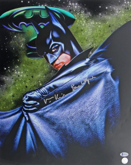 "Val Kilmer Batman Forever ""Bruce Wayne"" Signed 16x20 Photo BAS #B91925"