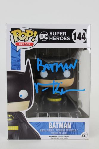 Val Kilmer Batman Forever Signed DC Super Heroes 144 Funko Pop Vinyl Figure BAS