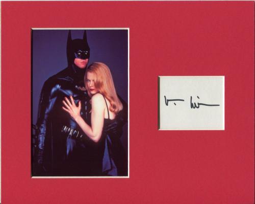 Val Kilmer Batman Rare Signed Autograph Photo Display