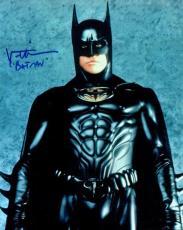 Val Kilmer Hand Signed Autographed 8x10 Photo Batman Batsuit Blue Ink JSA