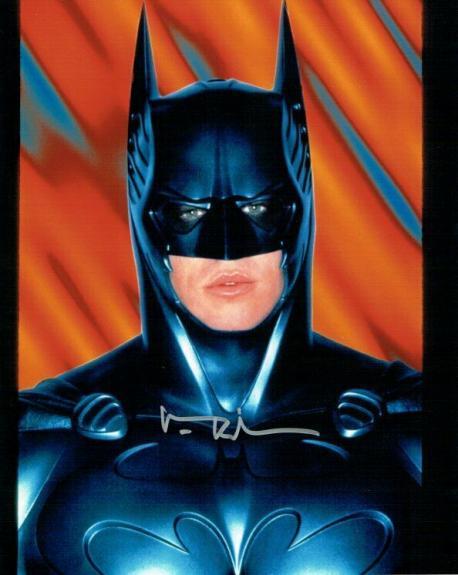 Val Kilmer Hand Signed Autographed 8x10 Photo Batman Silver Ink JSA
