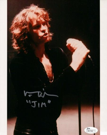 "Val Kilmer Hand Signed Autographed 8x10 Photo The Doors Inscribed ""Jim"" JSA"