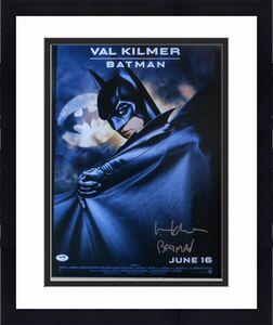 Val Kilmer Signed Autographed 16X20 Photo Batman Forever Poster PSA AC12318