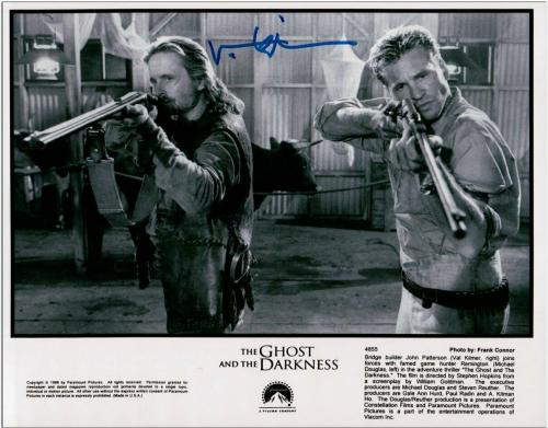Val Kilmer Signed Autographed 8X10 Photo The Ghost and the Darkness COA
