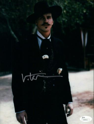 Val Kilmer Signed Autographed 8X10 Photo Tombstone Doc Holliday Black Suit JSA