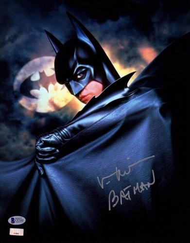"VAL KILMER Signed Autographed ""BATMAN"" 11x14 Photo BECKETT BAS #C87446"