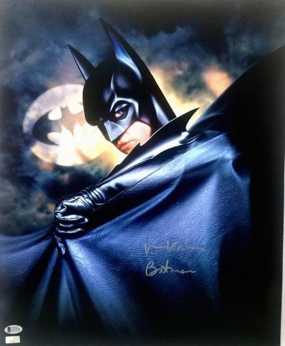 "VAL KILMER Signed Autographed ""BATMAN"" 16x20 Photo BECKETT BAS #C87459"