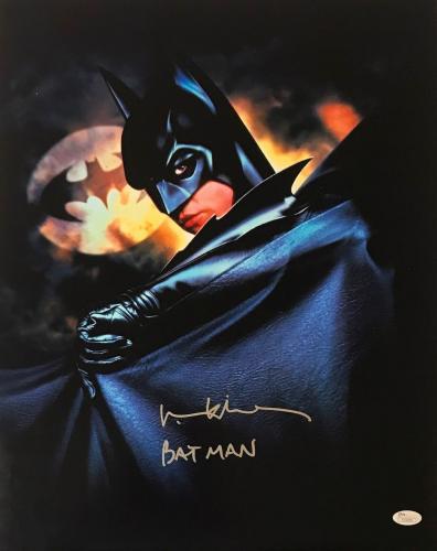 Val Kilmer Signed Autographed Batman Bruce Wayne 16X20 Photo JSA