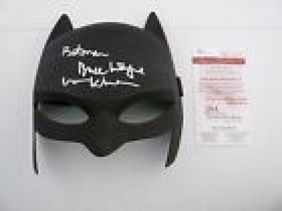 Val Kilmer Signed Autographed Batman Bruce Wayne Mask JSA Certified #2