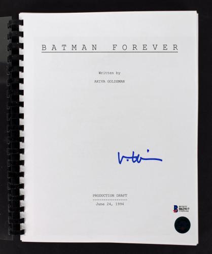Val Kilmer Signed Batman Forever Movie Script Autographed BAS #B62917