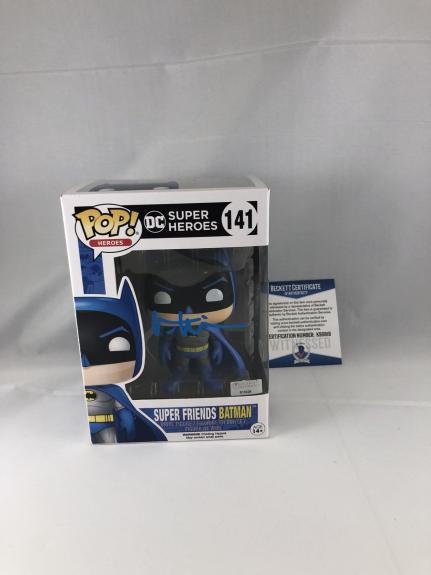 Val Kilmer Signed Dc Super Heroes Batman Funko Pop Bas Beckett 3