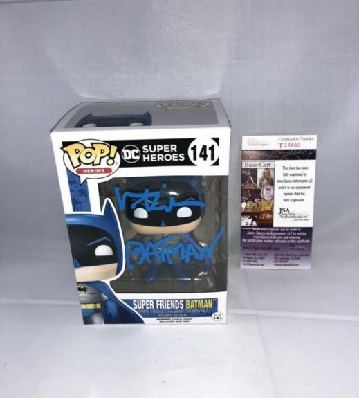 Val Kilmer Signed Dc Super Heroes Batman Funko Pop Jsa Batman Inscribed 2