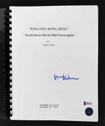 Val Kilmer Signed Kiss Kiss Bang Bang Movie Script BAS #B62918
