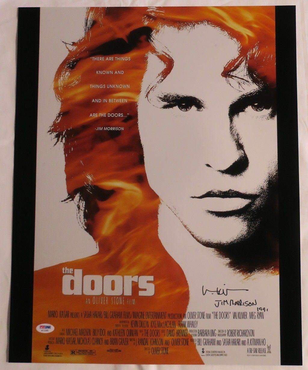 Array.product|escape  sc 1 st  Hollywood Memorabilia & Val Kilmer Signed The Doors Authentic Autographed 16x20 Photo PSA ...
