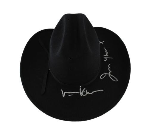 "Val Kilmer Signed Tombstone Black Felt Hat With ""I'm Your Huckleberry"" Inscription"