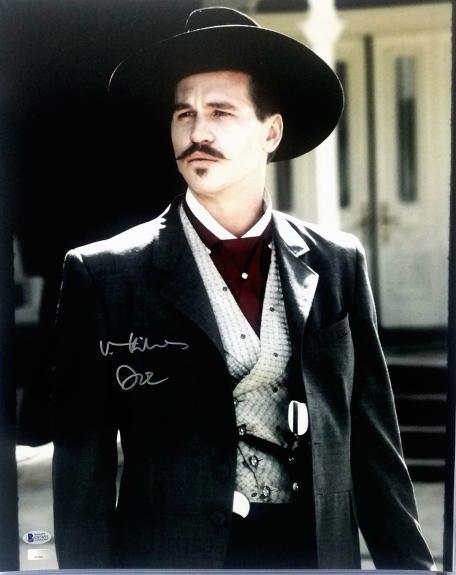 "VAL KILMER Signed TOMBSTONE ""Doc Holliday"" 16x20 Photo BECKETT BAS #C87455"
