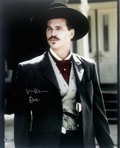 "VAL KILMER Signed TOMBSTONE ""Doc Holliday"" 16x20 Photo BECKETT BAS #C87456"