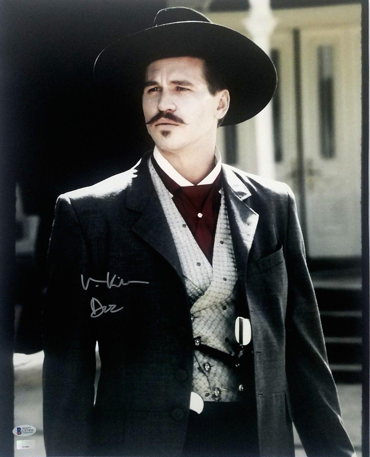 Val Kilmer Signed Tombstone Doc Holliday 16x20 Photo Beckett Bas