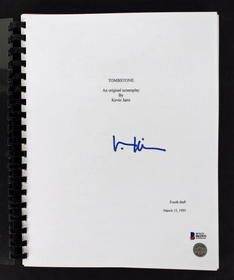 Val Kilmer Signed Tombstone Movie Script Autographed BAS