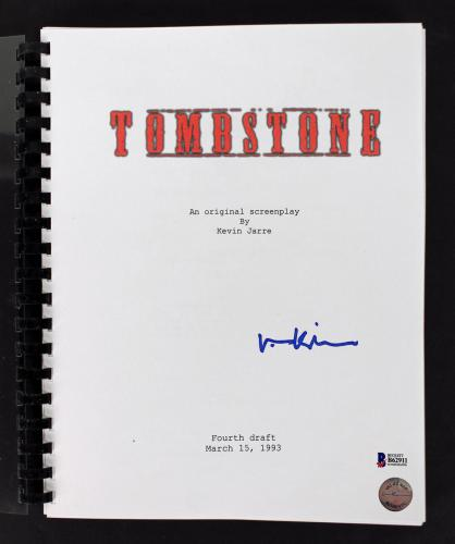 Val Kilmer Signed Tombstone Movie Script Autographed BAS #B62911
