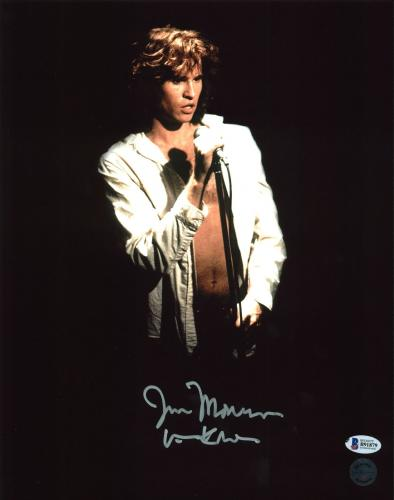 "Val Kilmer The Doors ""Jim Morrison"" Signed 11X14 Photo Autographed BAS"