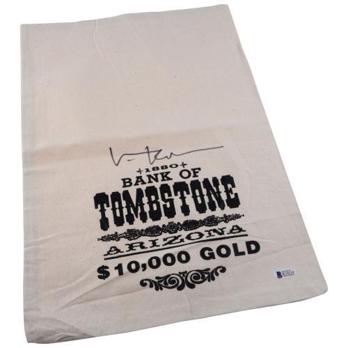 Val Kilmer Tombstone Autographed Money Bag - BAS