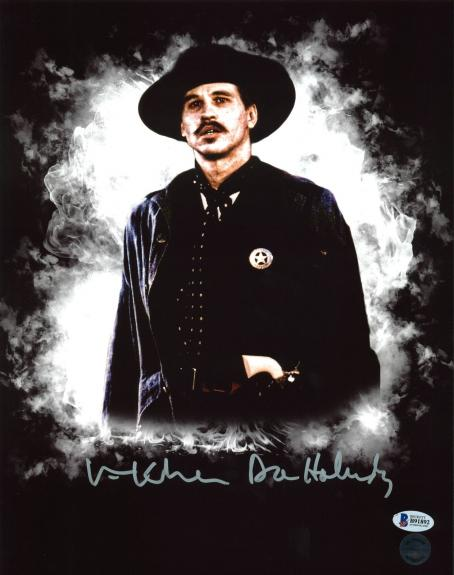 "Val Kilmer Tombstone ""Doc Holliday"" Signed 11X14 Photo BAS 11"