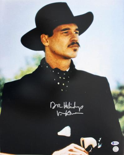 """Val Kilmer Tombstone """"Doc Holliday"""" Signed 16x20 Photo Autographed BAS"""