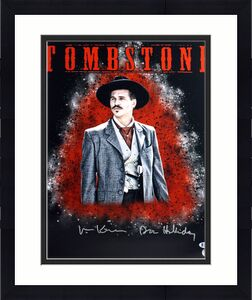 "Val Kilmer Tombstone ""Doc Holliday"" Signed 16X20 Photo BAS 2"