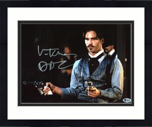 "Val Kilmer Tombstone ""Doc"" Signed 11x14 Photo BAS Witnessed #I86976"