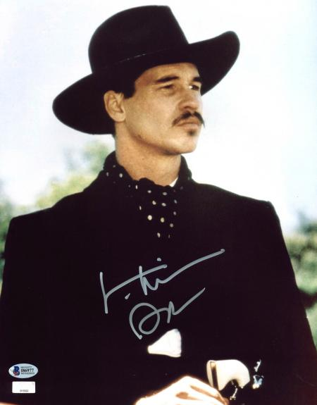 """Val Kilmer Tombstone """"Doc"""" Signed 11x14 Photo BAS Witnessed #I86977"""