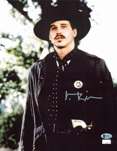 """Val Kilmer Tombstone """"Doc"""" Signed 11x14 Photo BAS Witnessed #K19977"""
